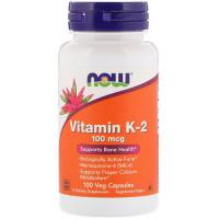 Вітамін К-2, Now Foods, Vitamin K-2, 100 мкг, 100 капсул