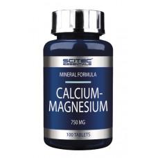 Кальций и Магний, Scitec, Calcium Magnesium, 750 мг, 100 таблеток