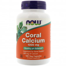 Кораловий калцій плюс, Now Foods, Coral Calcium Plus, 100 капсул