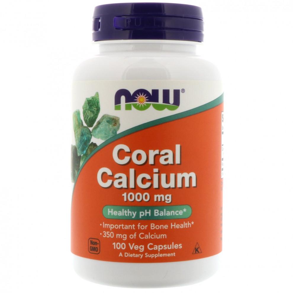 Кораловий кальцій плюс, Now Foods, Coral Calcium Plus, 100 капсул