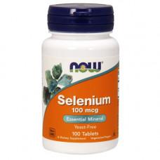Селен, Now Foods, Selenium, 100 мкг, 100 таблеток