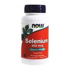 Селен, Now Foods, Selenium, 200 мкг, 90 капсул
