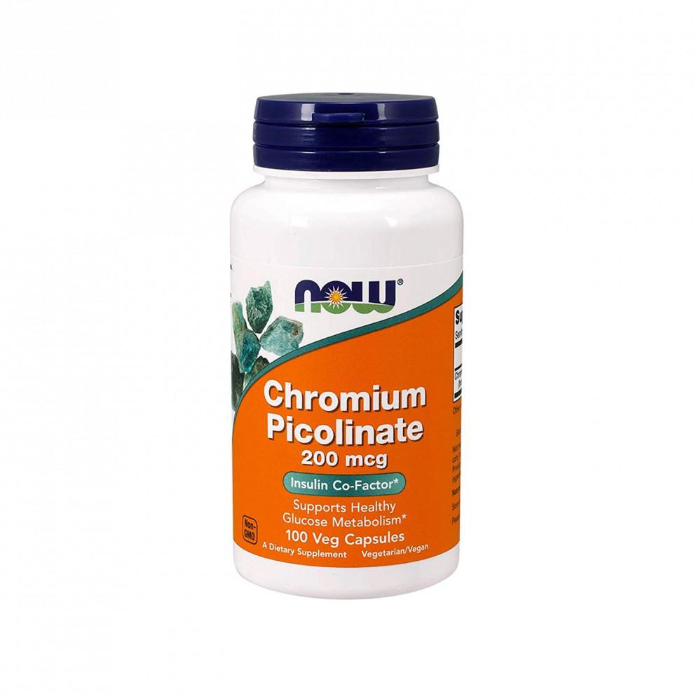 Хрома пиколинат, Now Foods, Chromium Picolinate, 200 мкг, 100 капсул
