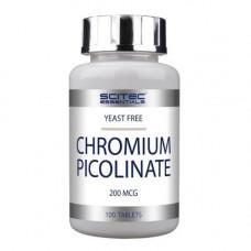 Хрому піколінат, Scitec, Chromium Picolinate, 200 мкг, 100 таблеток