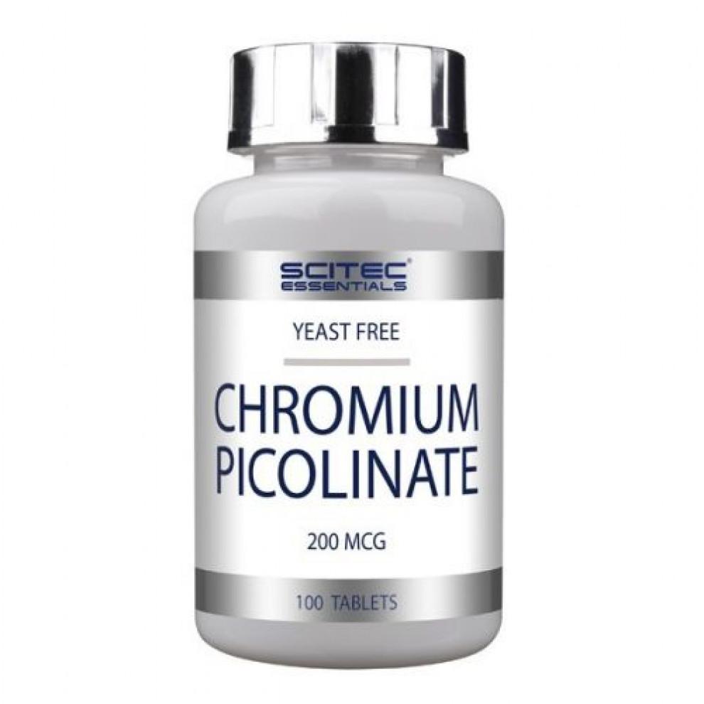 Хрома пиколинат, Scitec, Chromium Picolinate, 200 мкг, 100 таблеток