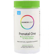 Вітаміни для вагітних, Rainbow Light, Prenatal One, 150 таблеток