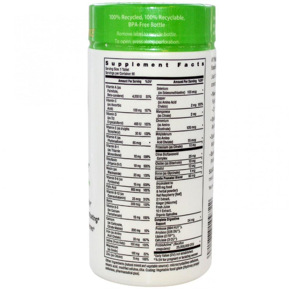Вітаміни для вагітних, Rainbow Light, Prenatal One, 90 таблеток