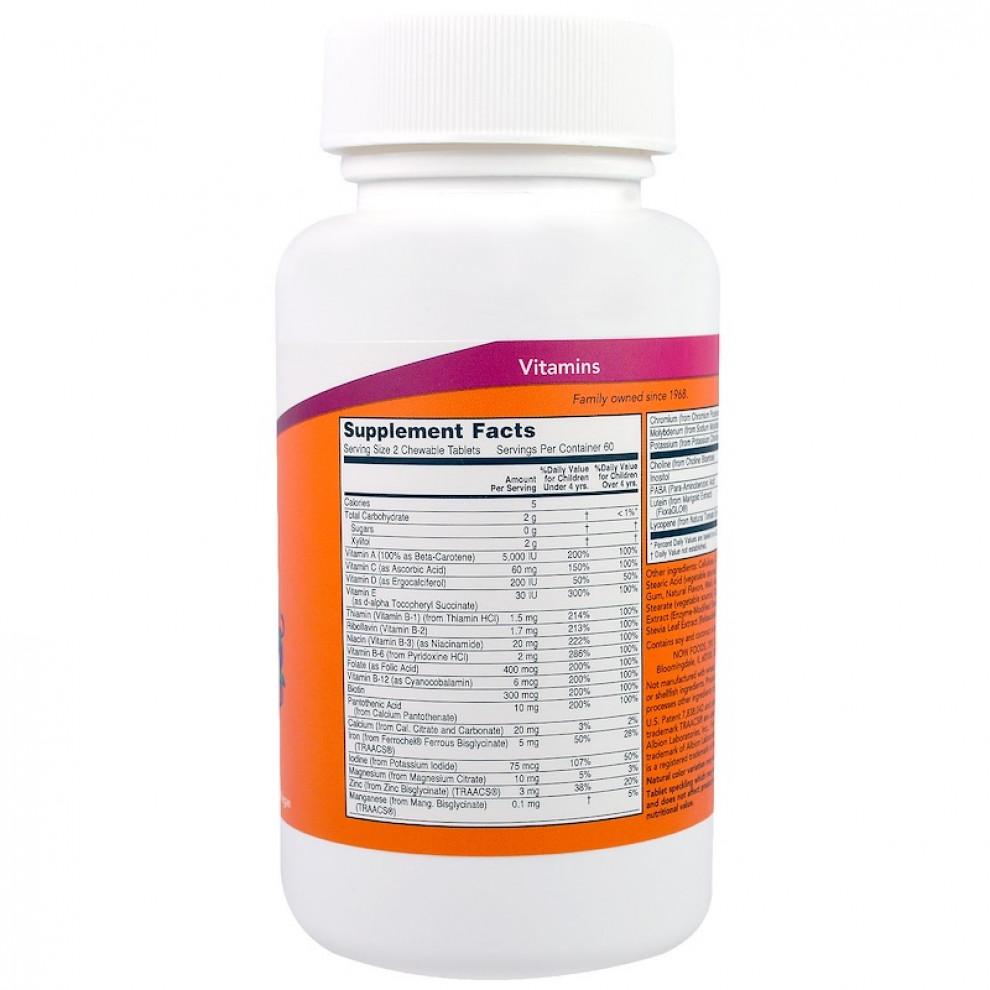 Витамины для детей Now Foods, Kids Vits, витамины для детей, 120 таблеток