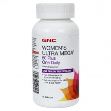 Мультивітаміни, GNC, Women`s Ultra Mega 50 Plus One Daily , 60 капсул