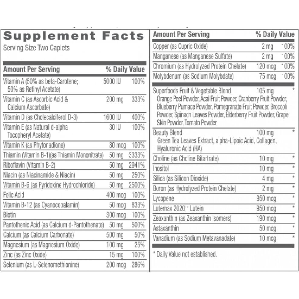 Мультивитамины, GNC, Women's Ultra Mega Activ without Iron, 90 капсул