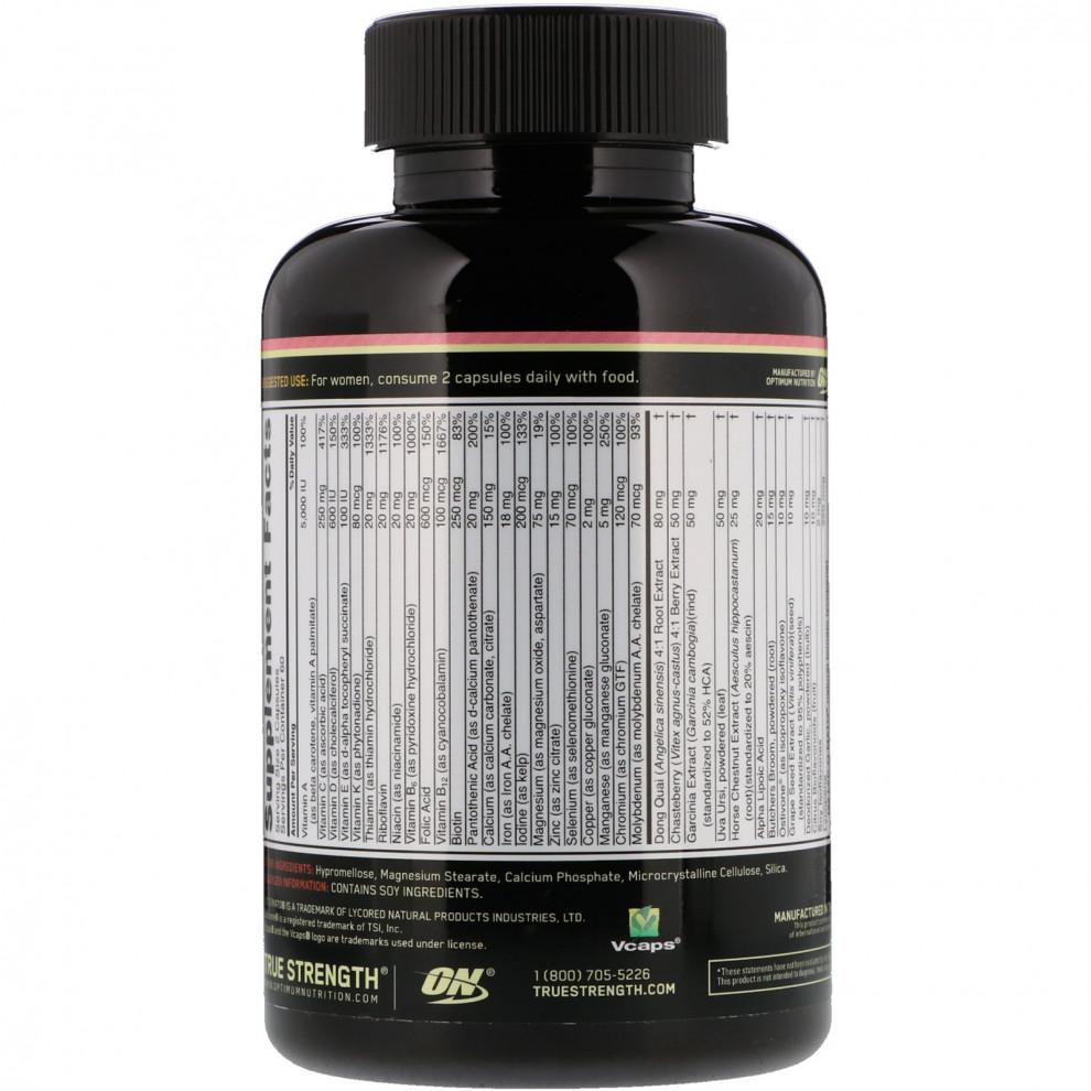 Мультивітаміни, GNC, Women`s Ultra Mega Energy & Metabolism, 180 капсул