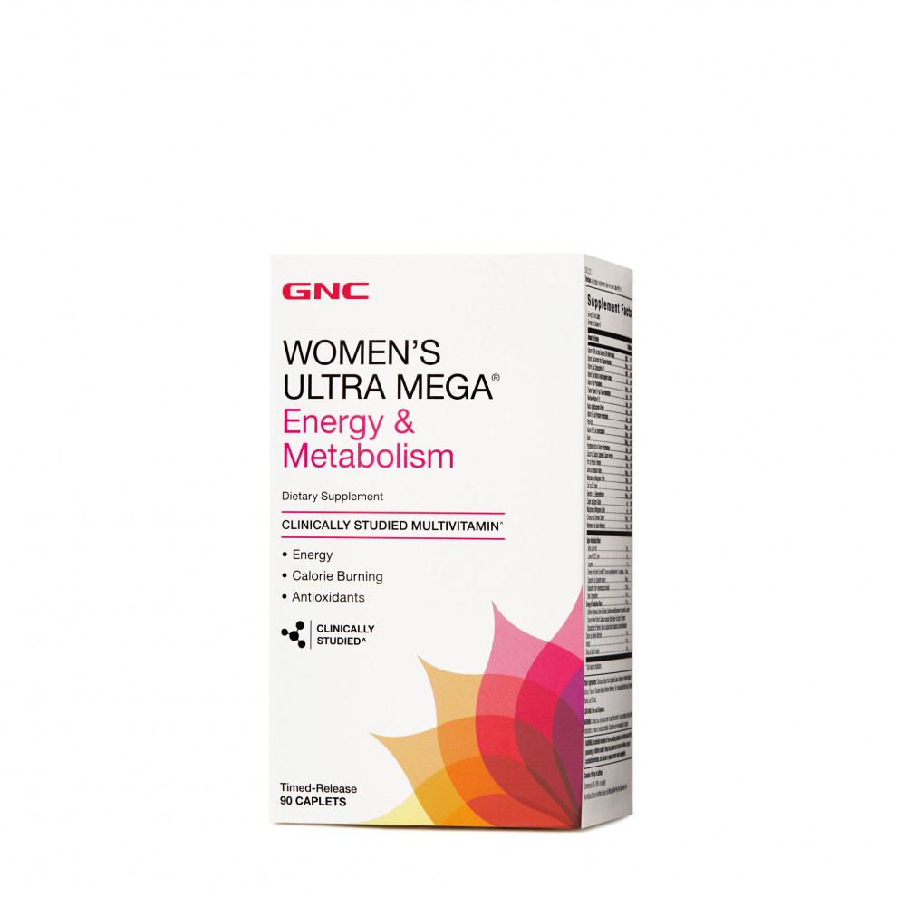 Мультивітаміни, GNC, Women`s Ultra Mega Energy & Metabolism, 90 капсул