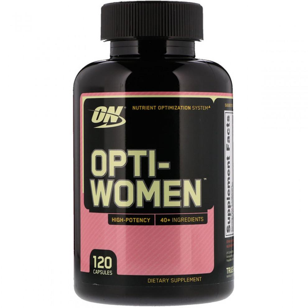Мультивітаміни, Optimum Nutrition, Opti-Women, 120 таблеток