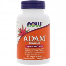 Витаминный комплекс для мужчин, Now Foods, ADAM, 90 капсул