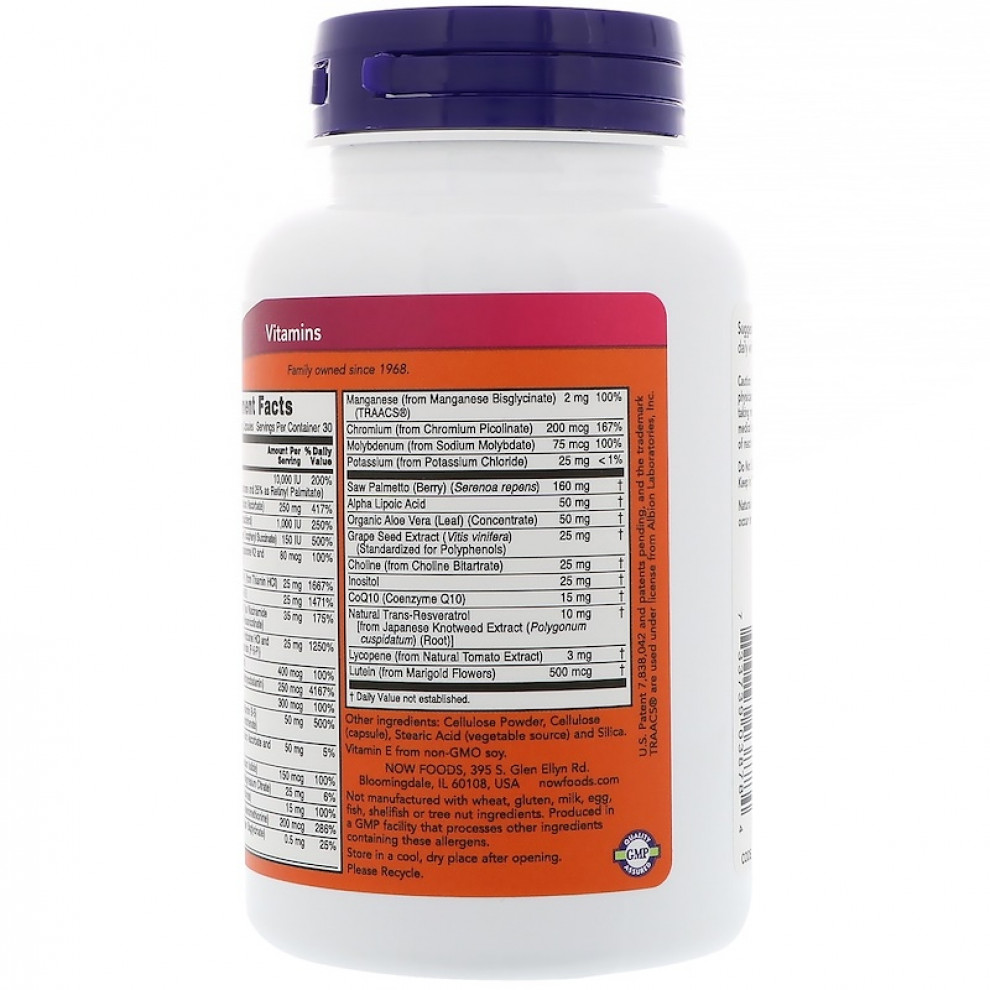 Вітамінний комплекс для чоловіків, Now Foods, ADAM,  90 капсул