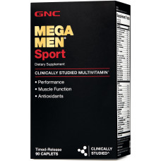 Мультивітаміни, GNC, Mega Men Sport, 90 капсул