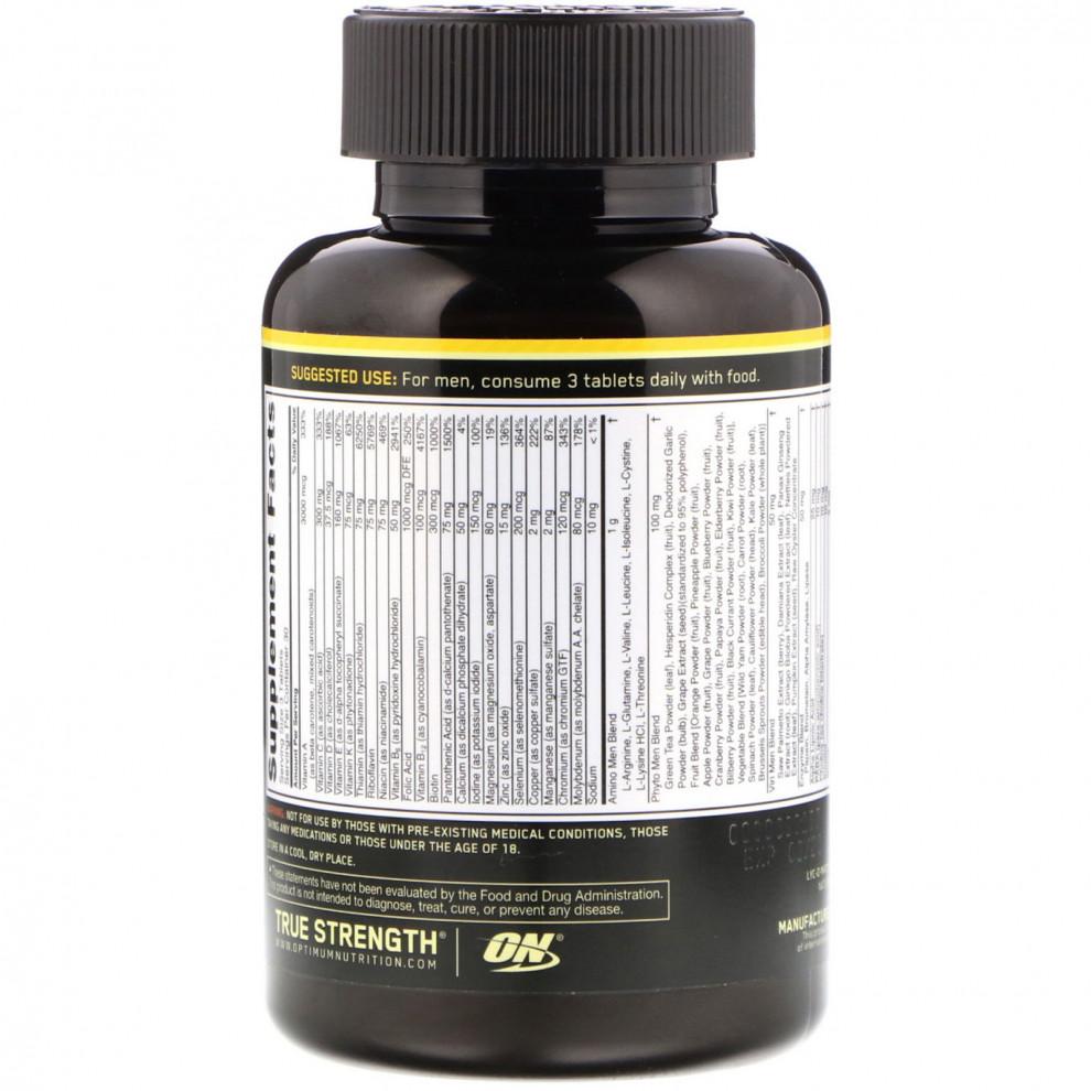 Мультивітаміни, Optimum Nutrition, Opti-Men, 90 таблеток