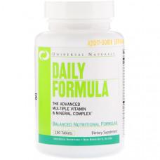 Мультивітаміни, Universal Naturals, Daily Formula, 100 таблеток