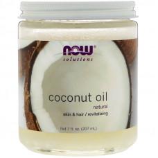 Кокосовое масло для кожи и волос, Now Foods, Coconut oil, 207 мл