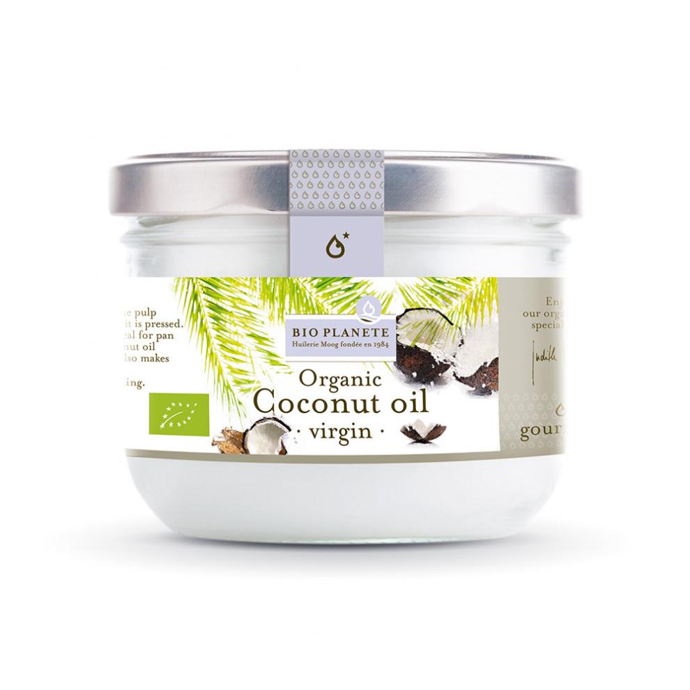 Кокосовое масло нерафинированное, BioPlanet, Coconut oil, 200 мл
