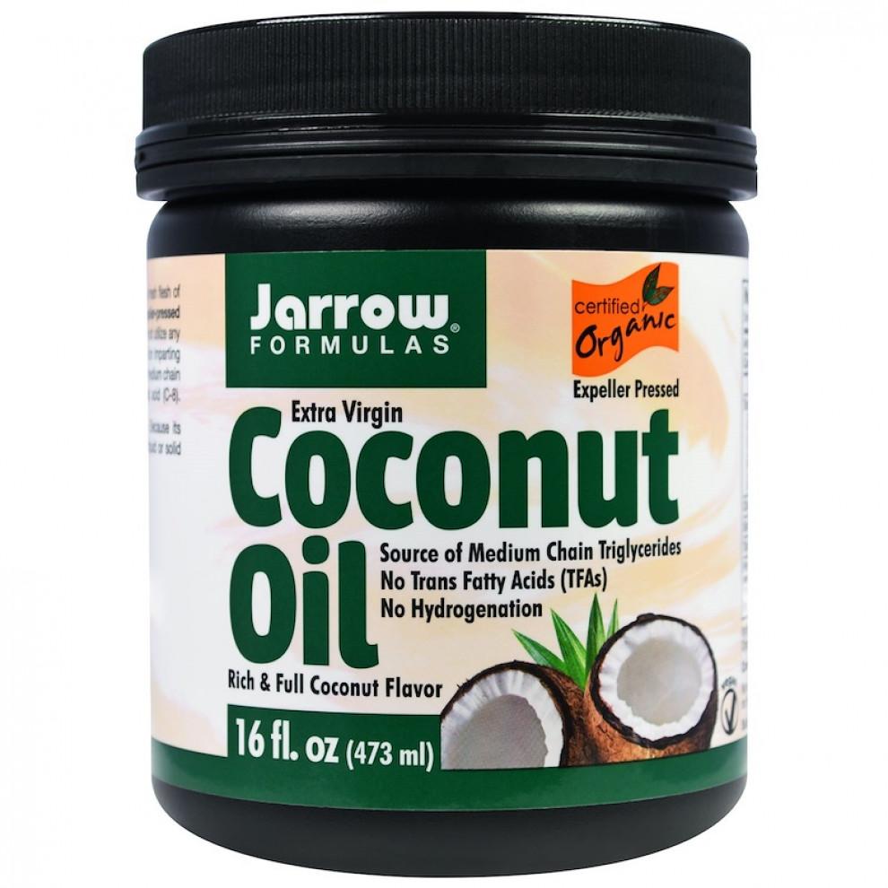 Кокосовое масло нерафинированное, Jarrow, Extra virgin coconut oil, 473 мл