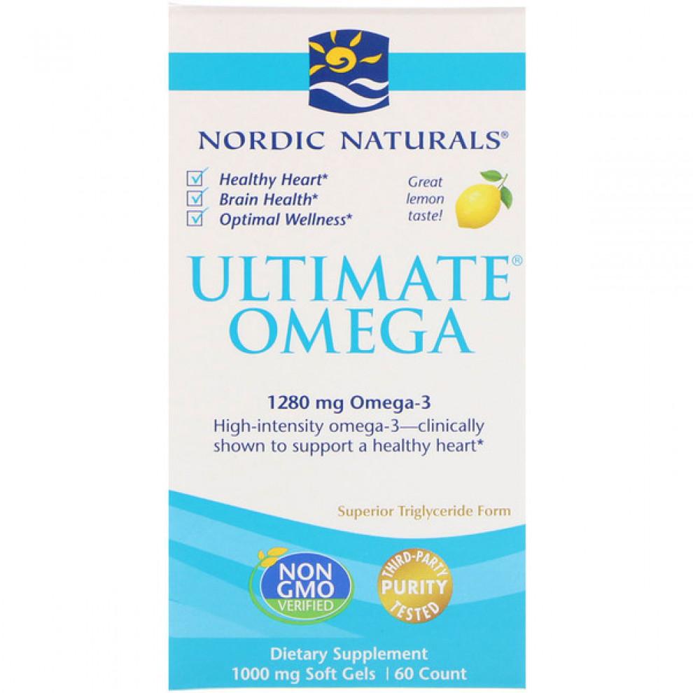Омега-3 со вкусом лимона, Nordic Naturals, Complete Omega Junior 283 мг, 90 капсул