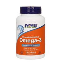 Омега-3, Now Foods, Omega-3, 2000 мг, 100 капсул
