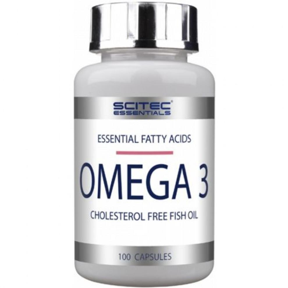 Омега-3, Scitec, Omega-3, 2000мг, 100 капсул