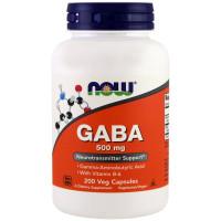 GABA (Гамма-аминомасляная к-та), Now Foods, 500 мг, 100 капсул