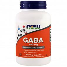 GABA (Гамма-аміномасляна к-та), Now Foods, 500 мг, 100 капсул