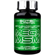 МСМ, Scitec, MSM, 800 мкг, 100 капсул