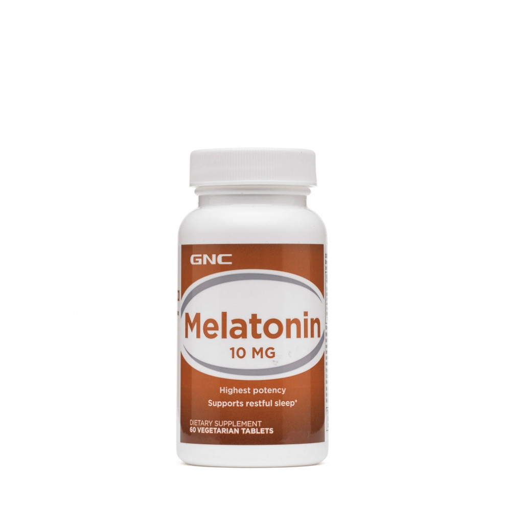 Мелатонін, GNC, Melatonin, 10 мг, 60 таблеток
