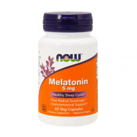 Мелатонін, Now Foods, Melatonin, 5 мг, 60 капсул