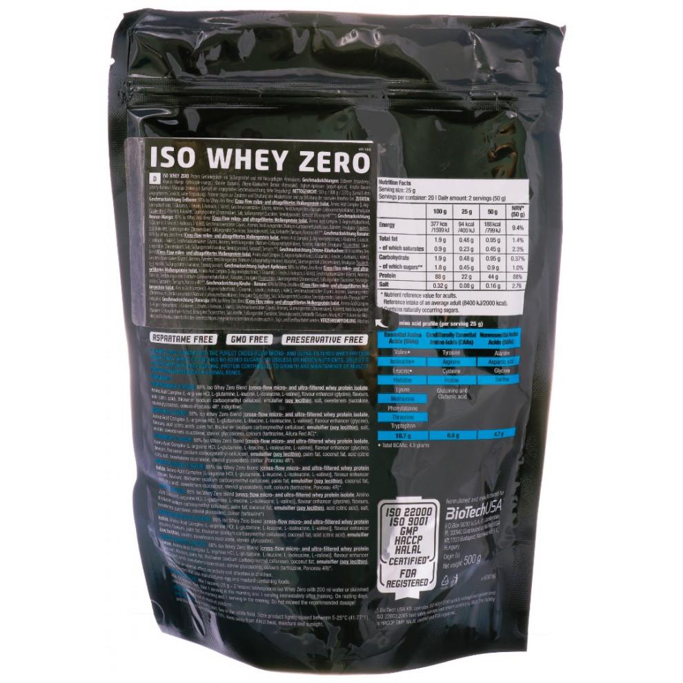 Протеїн, IsoWhey Zero, BiotecUSA, (ваніль), 500 г