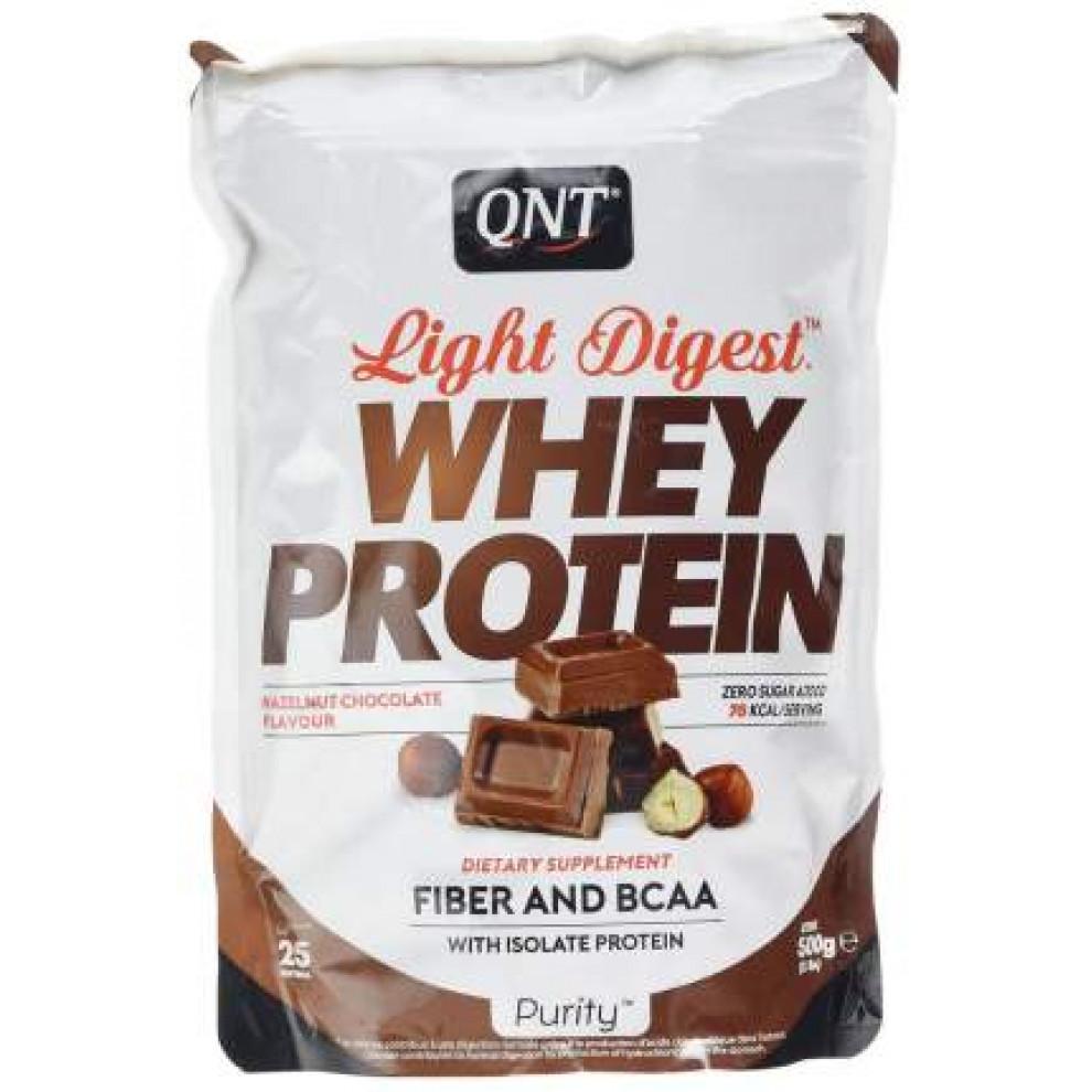 Протеин, QNT, Whey Protein, орех - шоколад, 500 г
