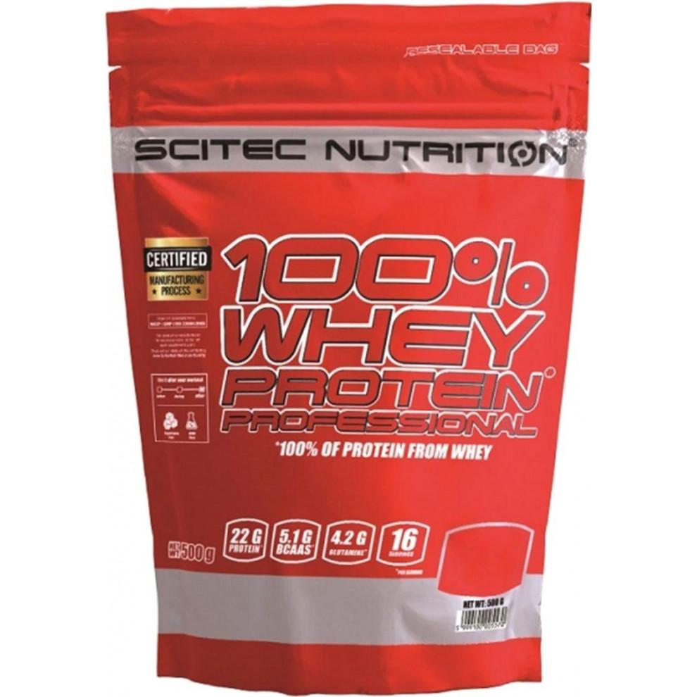 Протеїн, Scitec, Whey Protein, (полуниця), 500 г