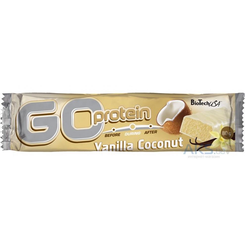 Протеиновый батончик Go energy Bar (ваниль-кокос), BioTechUSA, 80 гр