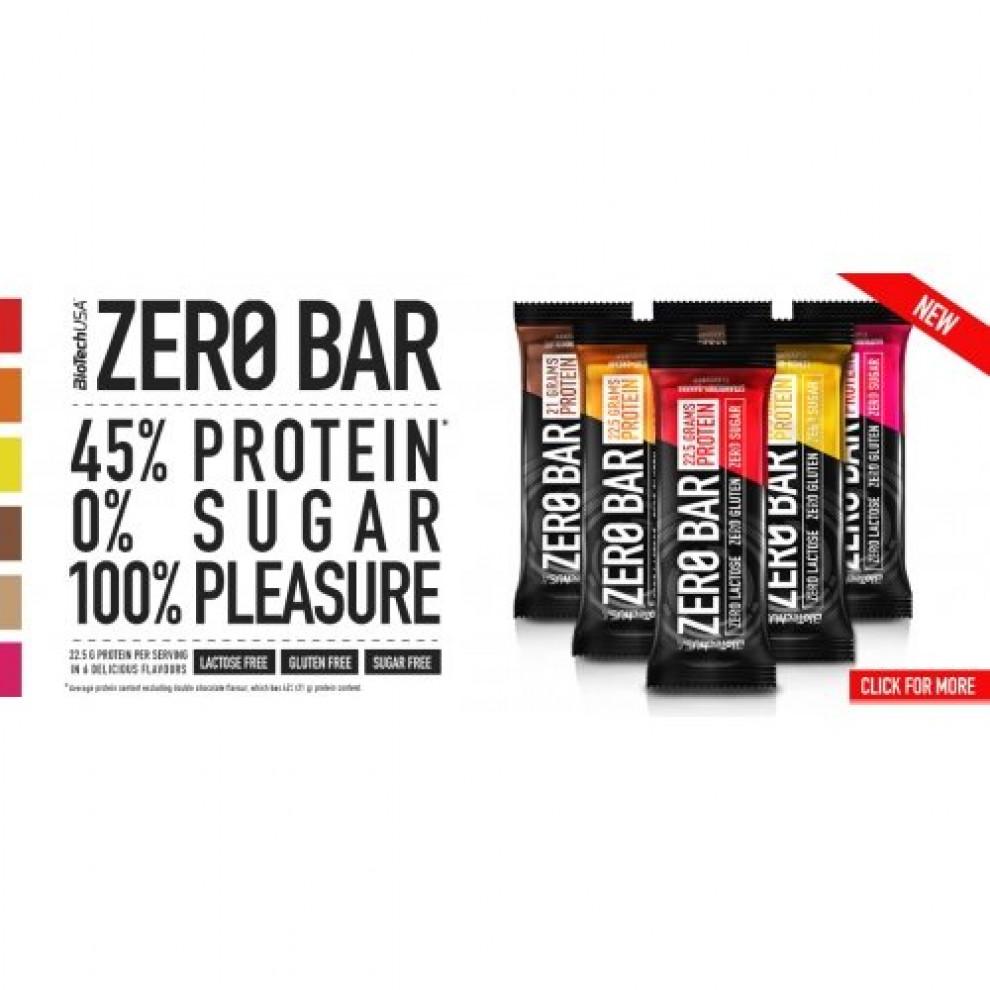 Протеиновый батончик Zero Bar (шоколад), BioTechUSA, 20 г
