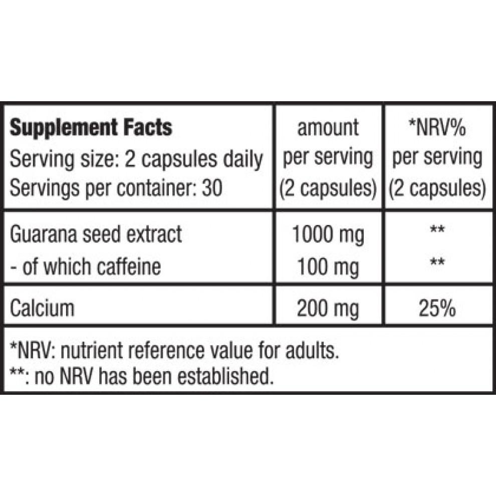 Гуарана с кальцием, BioTechUSA, Guarana, 60 капсул