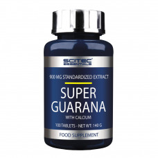 Супер гуарана, Scitec, Super Guarana, 100 таблеток, 900 мг