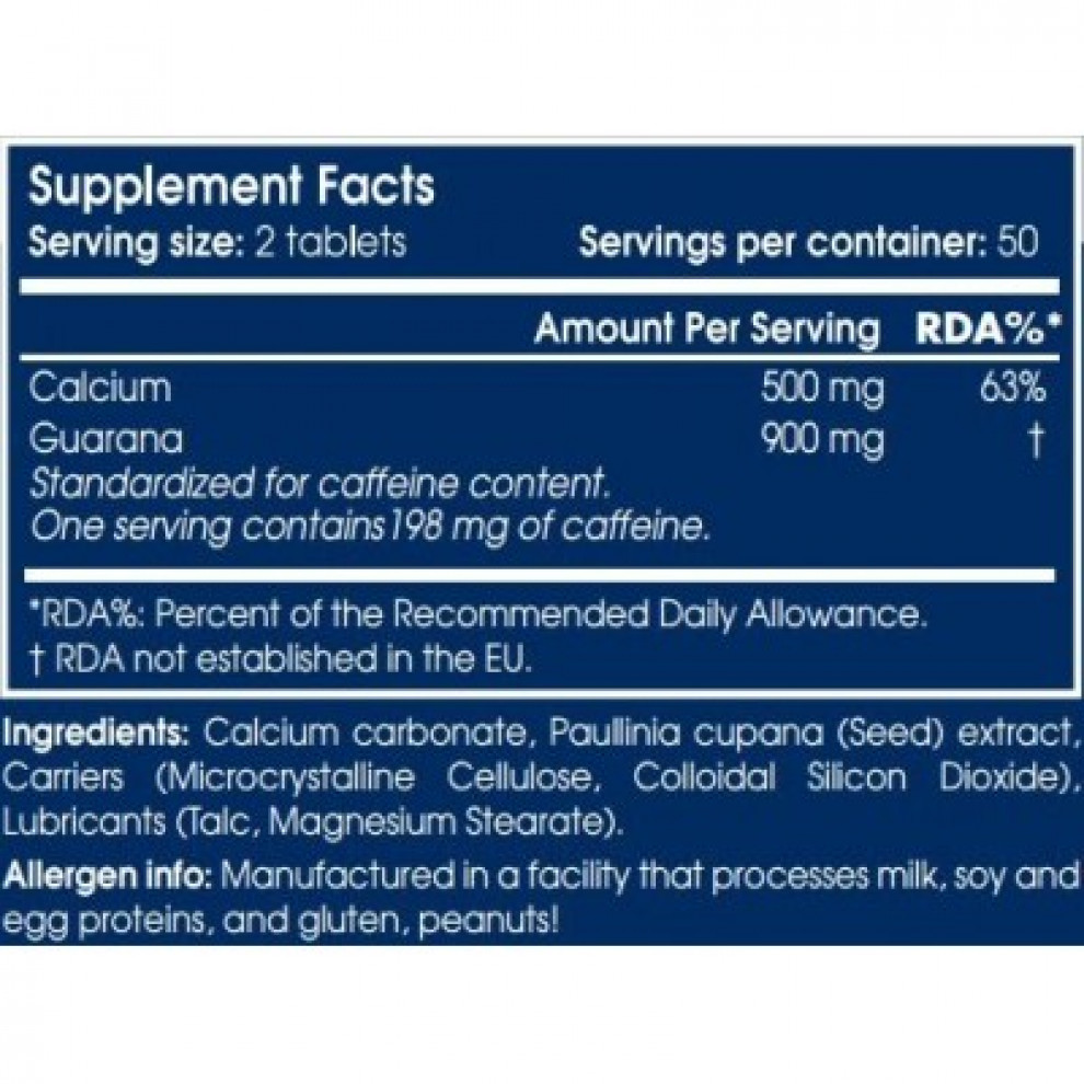 Супер гуарана, Scitec, Super Guarana, 100 таблеток, 900 мг