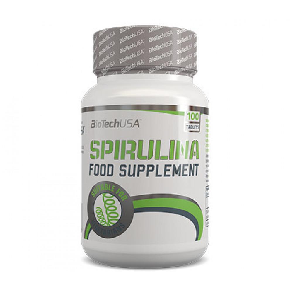 Спирулина, BioTechUSA, Spirulina, 900 мг, 100 таблеток
