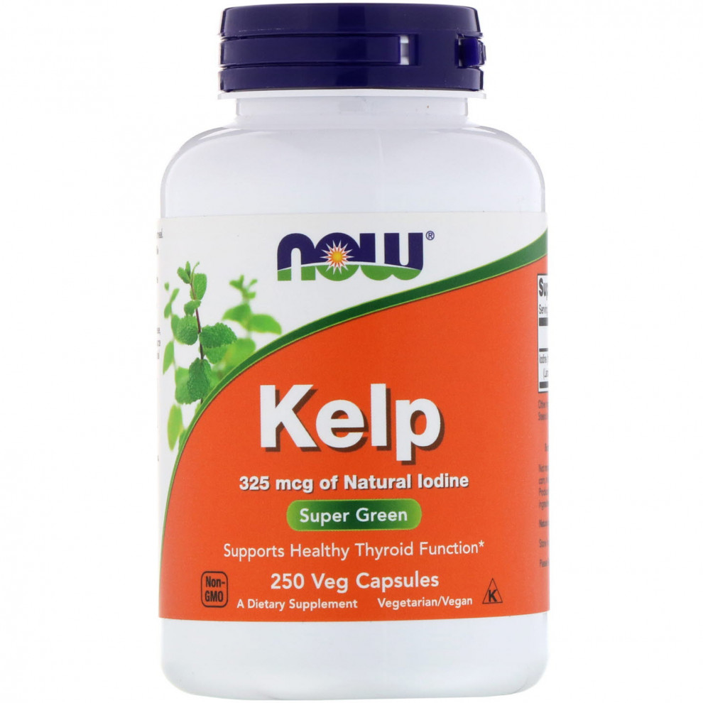 Ламинария, Now Foods, Kelp, 325 мг, 250 капсул