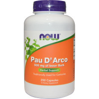 По д`Арко, Now Foods, Pau d`Arco, 500 мг, 100 капсул