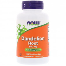Корень одуванчика, Now Foods, Dandelion Root, 500 мг, 100 капсул