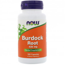 Корень лопуха, Now Foods, Burdock Root, 430 мг, 100 капсул