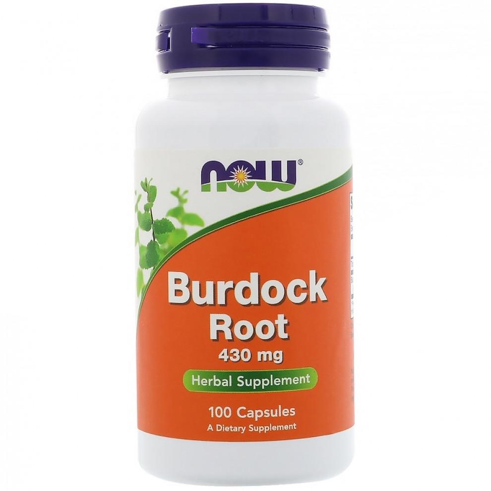Корінь лопуха, Now Foods, Burdock Root, 430 мг, 100 капсул
