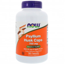 Подорожник в капсулах, Now Foods, Psyllium Husk, 700 мг, 180 капсул