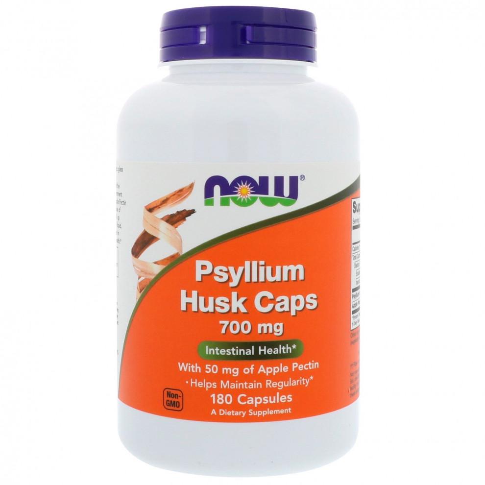 Подорожник в капсулах, Now Foods, Psyllium Husk, 700 мг, 180 капсул
