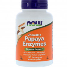Ферменты с папайя, Now Foods, Papaya Enzyme, 180 таблеток